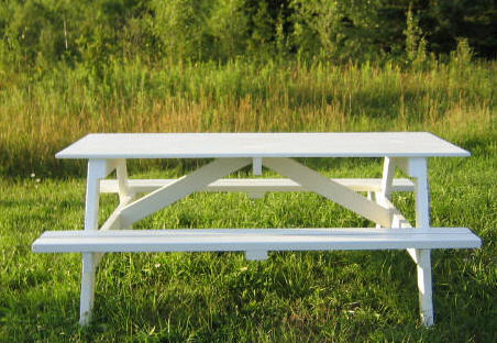Huge Complete X Picnic Table Plans - Huge picnic table