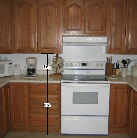 How to install kitchen cabinets for Cabinet height from floor